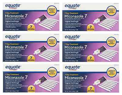 Equate Miconazole 7 Day Treatment Vaginal Antifungal Monistat 7,6 Pack Exp 08/20