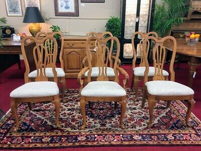 Pennsylvania House Oak Dining Chairs - Set of Six - Delivery Available