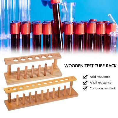 6/10 Holes Wooden Test Tube Holder Stand Chemical Laboratory Tube Instrument