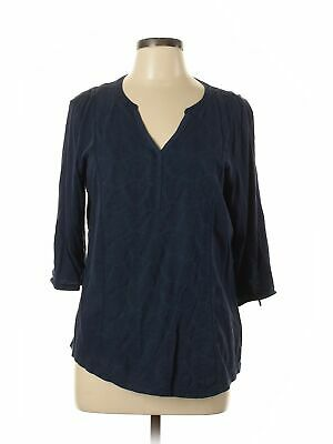 Sonoma Life + Style Women Blue 3/4 Sleeve Top L