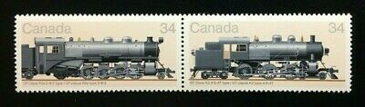 "Canada #1071-1072a MNH, Canadian Locomotives ""3"" Stamp 1985"