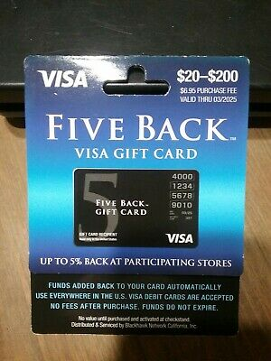 $50 GIFT CARD 5% extra No Fees After Purchase SEE MY FEEDBACK-Non-Reloadable