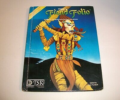 Advanced Dungeons and Dragons FIEND FOLIO Hardcover TSR Edited by Don Turnbull