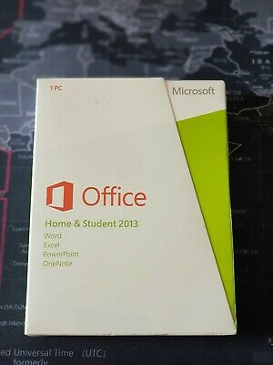Microsoft MS Office Home and Student 2013 32/64 Bit FPP BOX EUROZONE LICENZA KEY