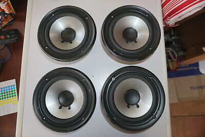 "Set of four 7.5"" Kenwood 16 Ohm 50W T10-0854-05 INDONESIA Mid Woofers for tower"