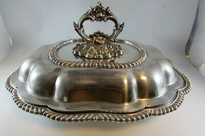 Vintage W & S Blackinton SILVERPLATE COVERED LARGE HEAVY SERVING DISH MARKED