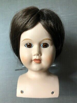 """Vintage Dubois Plastic Products Avon NY Boy Doll Parts Head Bust White 3.5"""" H"""