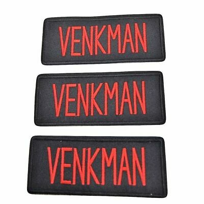 Ghostbusters Movie Venkman Uniform Name Tag Embroidered Iron on Patch Set of 3