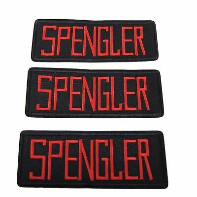Ghostbusters Movie Spengler Uniform Name Tag Embroidered Iron on Patch Set of 3