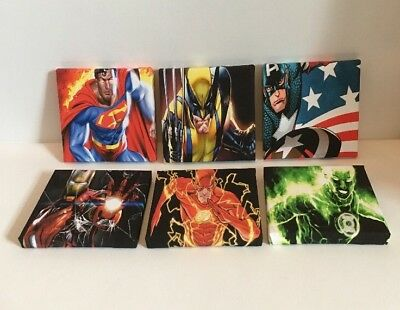 6th Job lot Set Of These 6 Marvel & DC Super Hero Canvas Pictures