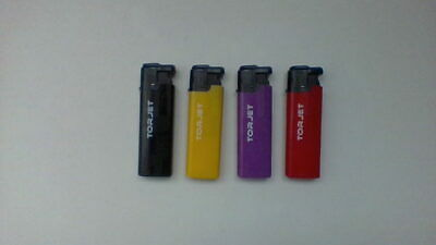 4 X TORJET Windproof Jet Flame Refillable Electronic Lighter Child Safety £3.49