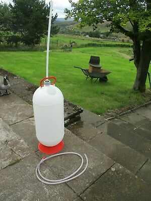 Large Micro Matic Beer Line Plastic Cleaning Bottle Tank 50L Non Pressurised