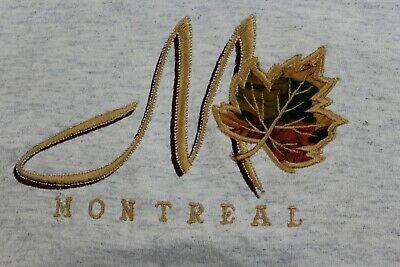 Montreal t shirt heather gray large embroideredQuebec Canada souvenir