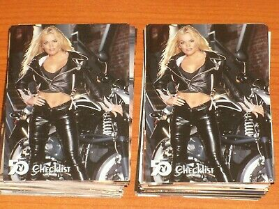 Playboy 50th Anniversary Complete Base Set 100 Centerfold Trading Cards 2005