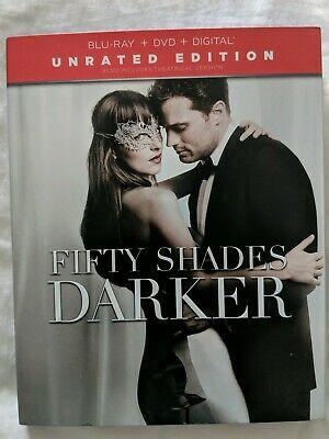 Fifty Shades Darker Digital Blue Ray HD DVD Movie Unrated Edition