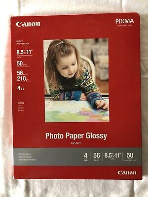 Canon Photo Paper Glossy 8.5 X 11 For Inkjet Printers 50 Sheets GP-601 Brand NEW