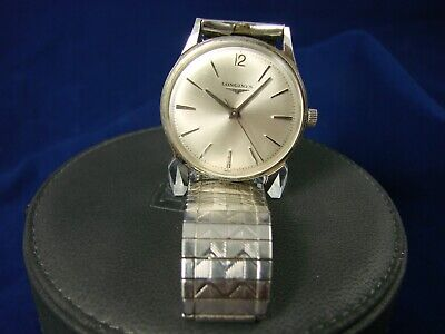 Vintage Mens Longines Admiral Stainless Steel Manual Watch 1950's 1200 wrench