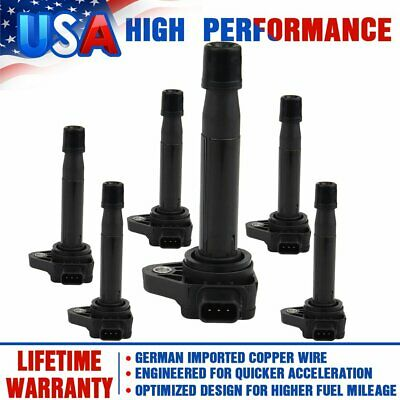Pack 6 Ignition Coils For Honda Accord Odyssey Acura TL CL V6 3.0 3.2 3.5L UF242