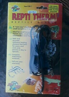NEW Zoo Med Mini REPTI THERM Reptile Heater RH7 For 1-5 Gallon Terrarium 4 watt