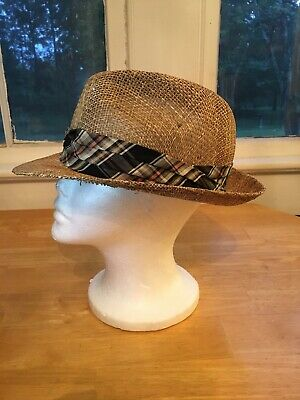 a4d0f90ec DORFMAN PACIFIC STACY ADAM Pure Silk Pleated HAT BAND for FEDORA ...