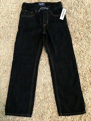 NWT New with Tags Boys Old Navy Pull On Elastic Waist Denim Jeans Size Small 6 7
