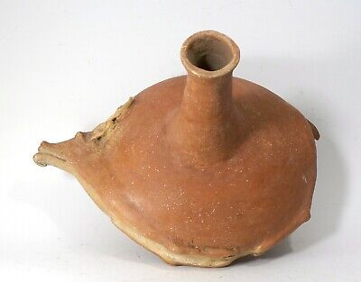 REPRO Pre-Columbian era Mississippian Bound Dead Deer Pottery Jug Vessel Bottle