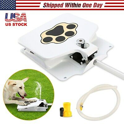 Trouble Free Dog Drinking Fountain Pet Doggie Step On Activated Water Outdoor