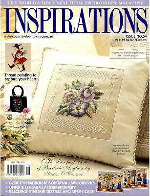 INSPIRATIONS MAGAZINE issue 54  PATTERNS STILL ATTACHED vgc