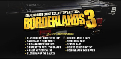 BORDERLANDS 2 DIAMOND Loot Chest individual Shift codes/cards for