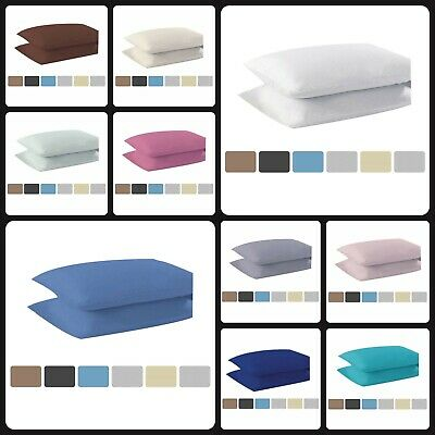 Non Iron Percale Flat Sheets Polycotton Fitted Bed Sheets Pillowcases 2 Pack