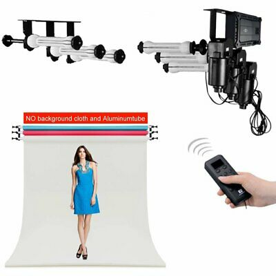 3 Roller Motorized Electric Background Backdrop Photography Support System