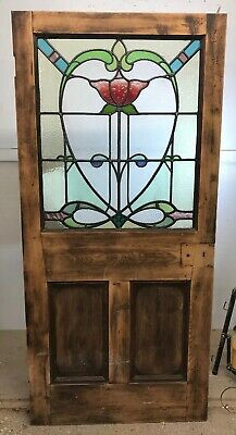 Victorian Stained Glass Door Reclaimed Period Old Antique Vestibule Lead Interna