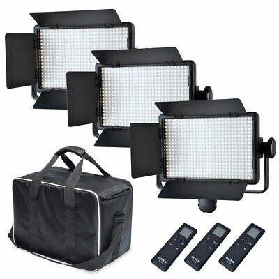 3X Godox LED500C 3300-5600K LED Video Continuous Light Panel With Carry  Bag Kit