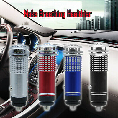 Universal Auto Car Fresh Air Ionic Purifier Oxygen Bar Ozone Ionizer Cleaner 12V