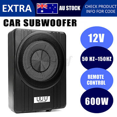 600W Black Under-Seat Car Subwoofer 10 Inch Ultra-Thin Speaker Audio Amplifier