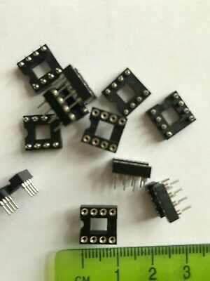 IC Socket  8 Pins Turned pin      25 Pieces  £3.75  Z3387