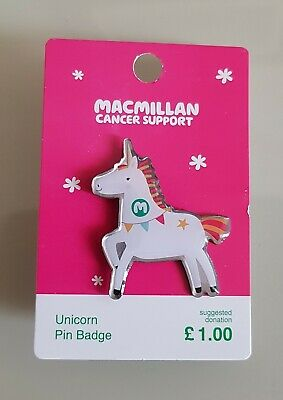 "Brand New ""MACMILLAN CANCER SUPPORT"" Unicorn Pin Badge (SAME DAY DISPATCH !!)"