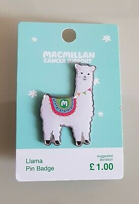 "Brand New ""MACMILLAN CANCER SUPPORT"" LLAMA Pin Badge (SAME DAY DISPATCH !!)"