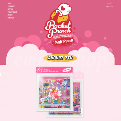 KPOP ROCKET PUNCH 1ST MINI ALBUM PACKAGE [ PINK PUNCH ] + Tracking Number