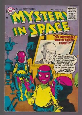 Mystery in Space # 30  Impossible World named Earth !  grade 5.0 scarce book !