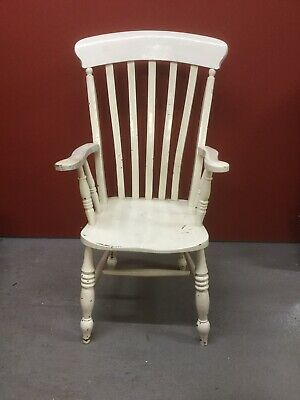 Antique Victorian Painted Grandfather Style Windsor Chair Sn-851a
