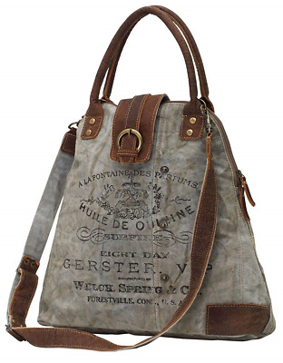 1674d9d055f7 MYRA BAG GREEN Floral Upcycled Canvas Weekender Bag S-1192 - $47.99 ...