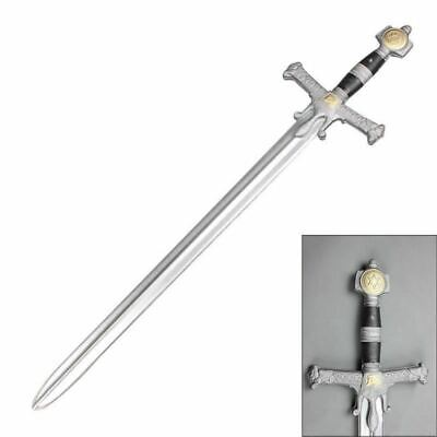 "42"" King Soloman Masonic Free Mason Medieval Sword Fantasy Cosplay REAL LOOK"