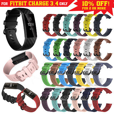 Fitbit Charge 3 Band Strap Replacement Wristband Bracelet Various Luxe Silicone