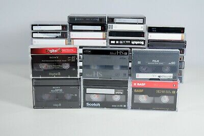 40 x Digital 8 Video 8 Camcord Tapes Sony BASK Scotch Fuji TDK Boots