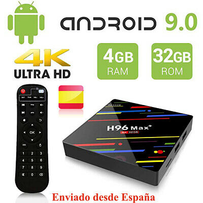 H96 Max Plus Android 9.0 4GB 32GB Tv Box RK3328 2.4G Wifi BT4.0 1080P Caja de TV