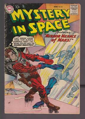 Mystery in Space # 52  Mirror Menace from Mars !  grade 4.0 scarce book !