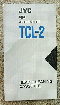 JVC TCL-2 VHS Head Cleaning Cassette, Great Condition, Original Packaging
