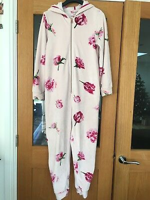 Ted Baker Pink Soft Dressing Gown All In One Jumpsuit  Pjs Age 11-12