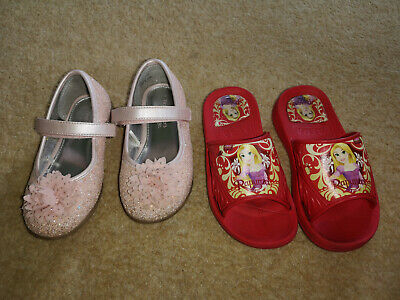 infant girls shoes bundle uk size 9 / 27 eu sliders,sandals